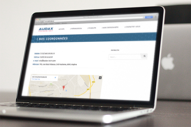 Audax Technology website 2
