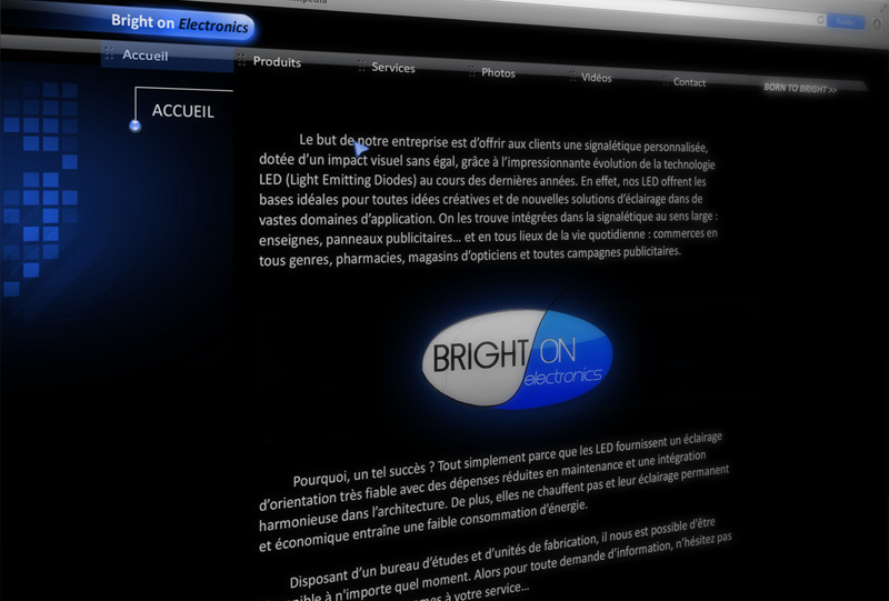 Bright On electronics website